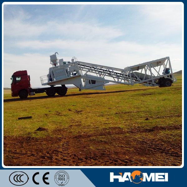 60m3/h Mobile Concrete Mixing Plant
