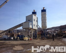 HZS90 Ready-mixed concrete mixing plant