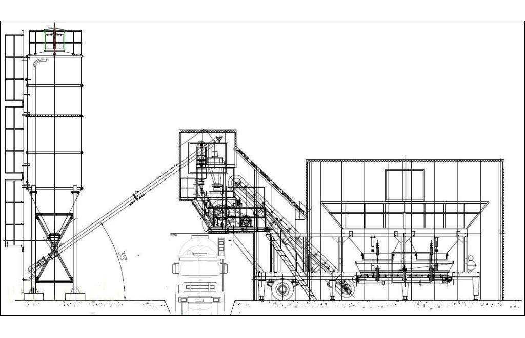 YHZS25 mobile concrete plant