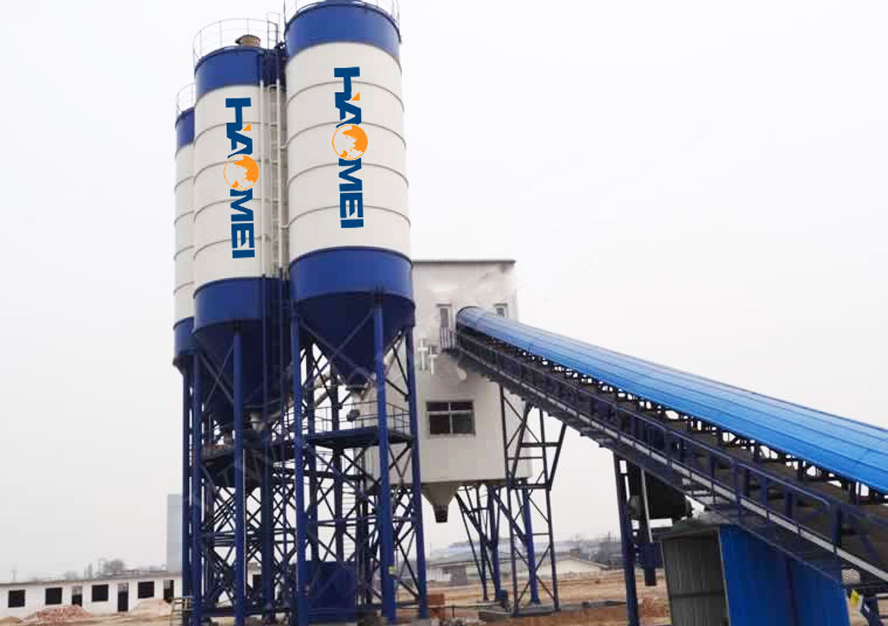 Introduction of commercial concrete batching plant